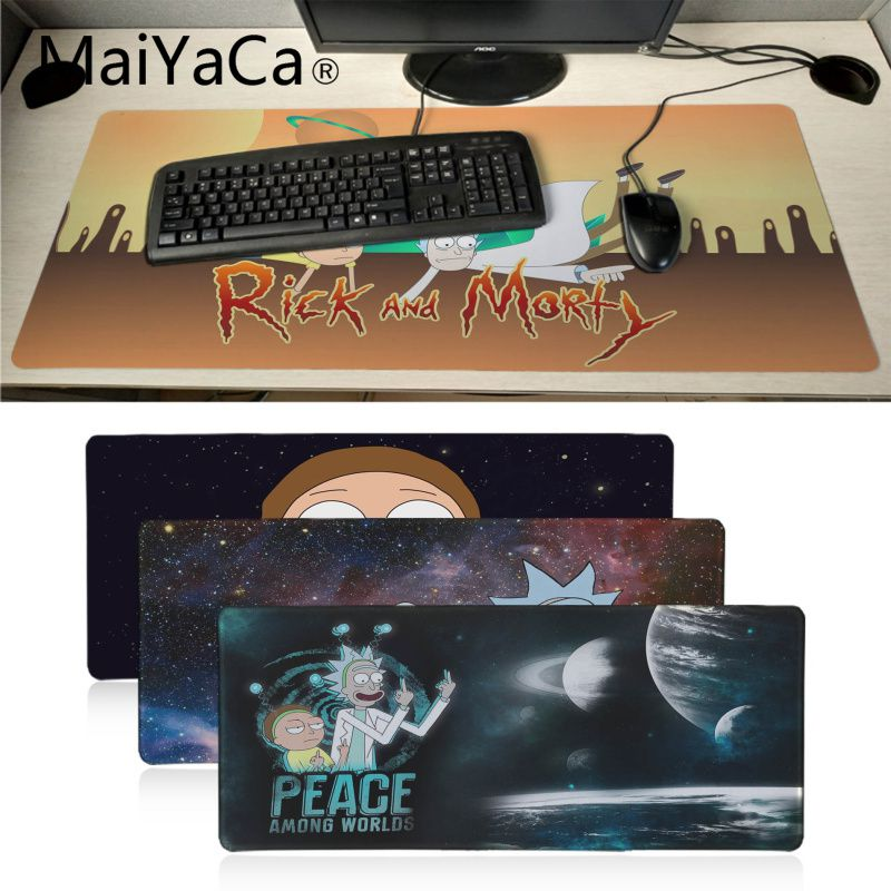 MaiYaCa Votre Propre Tapis mignon Rick Et Morty Haute Vitesse nouveau Tapis De Souris Grand Gaming Mouse Pad Lockedge Tapis de Souris Clavier Pad