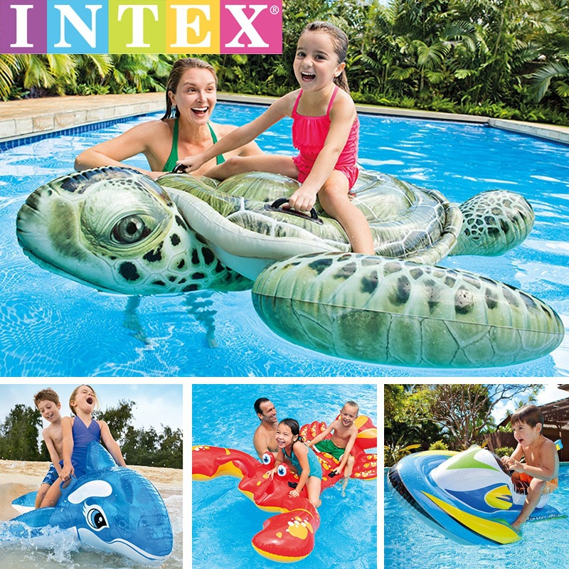 2018 Water inflatable mount toy adult children floating row Swan Unicorn floating bed flamingo swim ring