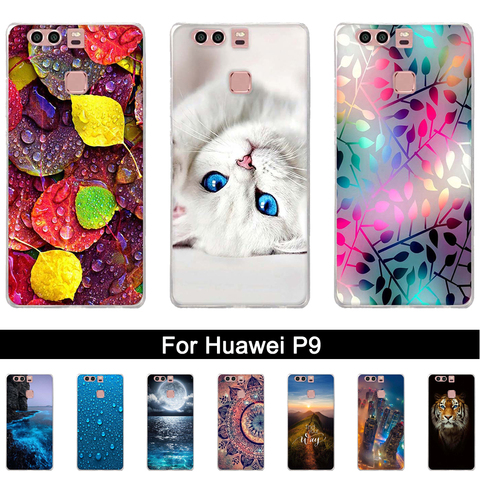 Silicone Case For Huawei P9 Case Back Cover For Huawei P9 EVA-L09 EVA-L19 EVA-L29 5.2 inch Phone Cases Painted Soft TPU Covers Pakistan