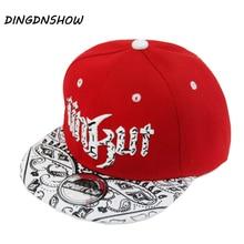 DINGDNSHOW 2019 nueva gorra de béisbol Snapbacks sombrero niños acrílico  de Hip Hop gorra cartas UNKUT tapa plana para niño Y l. b1842199a45