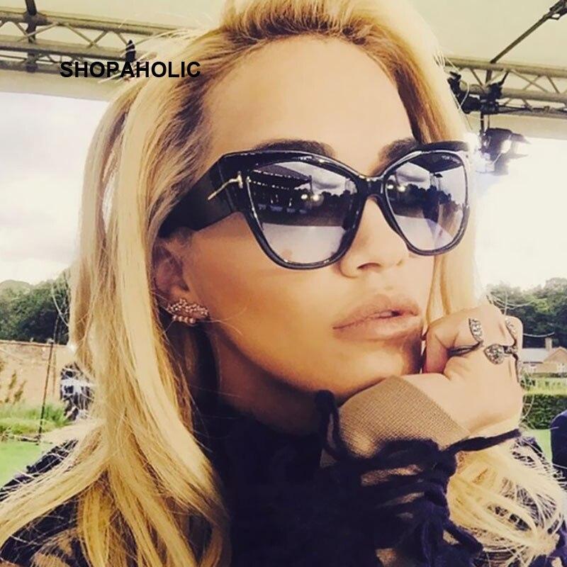 6080b054bb Kim Kardashian gafas de sol de las mujeres superior plano cuadrado Lunette  de marca de lujo negro diseñador remache, gafas de sol para mujeres  Overisze ...