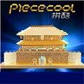 Piececool Sungnyemun P019G Металлические Модели, развивающие Игрушки DIY 3D Головоломки, головоломки 3D Металлические Модели Brinquedos, игрушки Для Детей