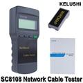 KELUSHI Sc8108 Digital LCD Multifunções Portátil Testador De Rede Sem Fio PC Rede De Dados CAT5 RJ45 LAN Telefone Cable Tester Medidor