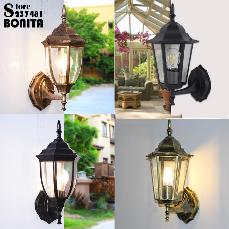 Clever Antique European Outdoor Wall Lamp Waterproof Balcony Wall Light Villa Courtyard Aisle Die Casting Aluminum Sconce Wall Light To Be Renowned Both At Home And Abroad For Exquisite Workmanship Led Lamps Skillful Knitting And Elegant Design