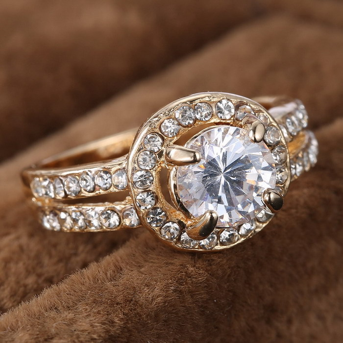 aliexpresscom buy weekend deals his and hers promise ring wedding ring cute rhinestone gold plated ring for women crystal engagement wedding rings from - Cute Wedding Rings