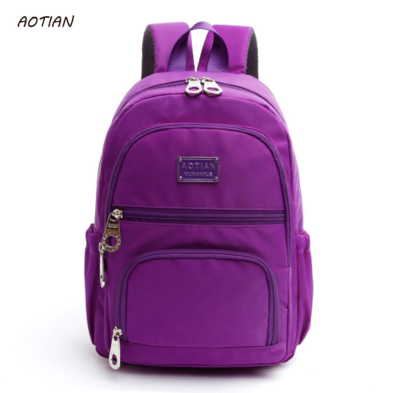 AOTIAN New Women Backpack Fashion Preppy Style Shoulder Bag Waterproof Nylon Backpacks Schoolbags for Teenager Girls Daypacks new 2017 women printing backpack preppy style fashion school bag for teenager color casual nylon bag hot high quality ladies bag
