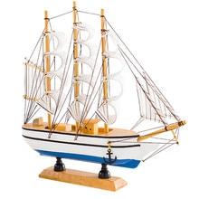 16cm sailing model home accessories smooth ornaments Mediterranean marine series random color