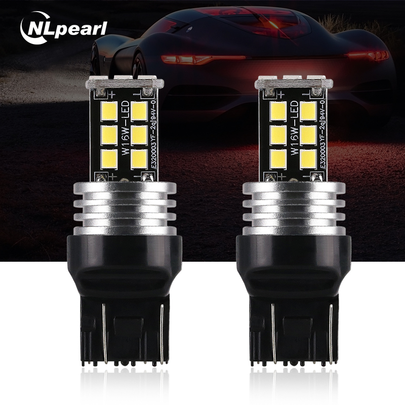 Nlpearl Signal-Lamp Reverse-Tail-Brake-Lights W21W T20 7443 7440 Led Canbus White 12V