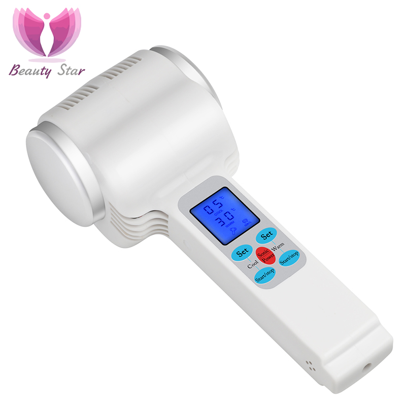 Beauty Star Ultrasonic Cryotherapy Hot Cold Hammer Lymphatic Face Massager Ultrasound Cryotherapy Facial Body Beauty Salon
