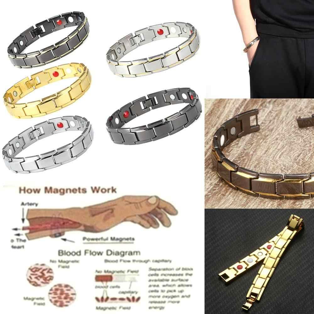 ファッション治療磁気ブレスレットヘルスケアエネルギーブレスレット重量損失セラピージュエリーボディビル男性女性