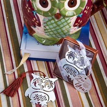 """baby showers birthdays and Christenings favor gift and giveaways for guest --""""Whooo's the Cutest"""" Owl Metal Bookmark 100pcs/lot"""