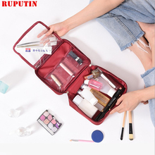 цена на RUPUTIN New Waterproof Men Makeup Bag Oxford Travel Organizer Cosmetic Bags For Women Necessaries Make Up Case Wash Toiletry Bag