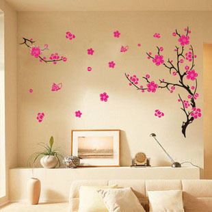 Low cheap vinyl flowers wall stickers home decor wall - Stickers para decorar paredes ...