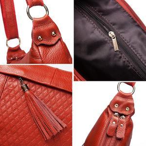 Image 5 - KAVIS 100% genuine leather women shoulder bag female high quality messenger handbag lady designer high qualiity Brand crossbody