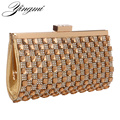 Rhinestones Women Evening Bags Gold/Silver Chain Shoulder Evening Bag Small Purse Clutch Women Handbags
