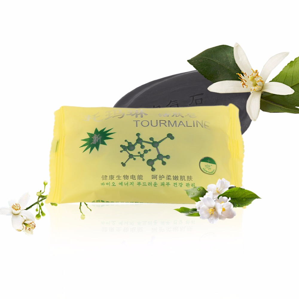 Tourmaline Bamboo Active Energy Soap Charcoal Energy Soap Concentrated Sulfur Soap For Face & Body Beauty Healthy