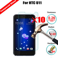 XSKEMP Wholesale 10Pcs Lot 9H Real Premium Tempered Glass For HTC U11 Anti Explosion Screen Protector
