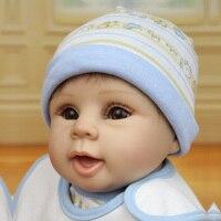 Newborn Babies Doll Reborn Toys Silicone Bebe 55CM Realistic Collectible Dolls Soft Cloth Body Simulator Bonecas