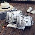 Mulheres de alta qualidade sacos Crossbody Bonito pequeno rebite bolsa de Couro PU Bolsa de Ombro Ocasional saco travesseiro Tote XD3646