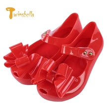 TWINSBELLA 2017 New Summer Fashion Children Shoes Toddler Girls Sandals Kids Girls Jelly Sandals with BowKnot Decoration