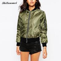 Baseball Jacket Women Bomber Jacket Military Style Winter Coat Army Green Outerwear Womens Punk Army Jacket Motorcycle 2017