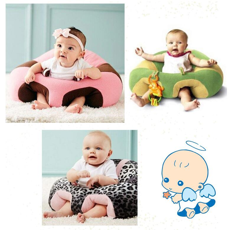 Baby Support Seat Plush Soft Baby Sofa Learning To Sit Keep Sitting Posture Comfortable For 0-6 Months Baby