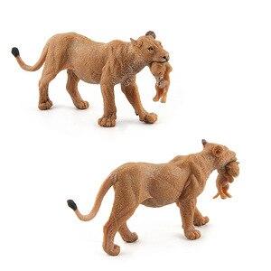 Image 4 - Wild Simulation Lion Animal models Toy plastic Lioness Animal figures home decor Gift For Kids figurine dolls Bedroom Decoration