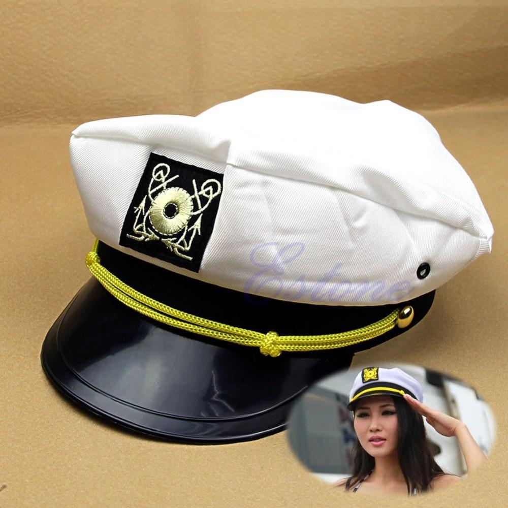 Yacht Captain Skipper Sailor Boat Cap Hat Costume New