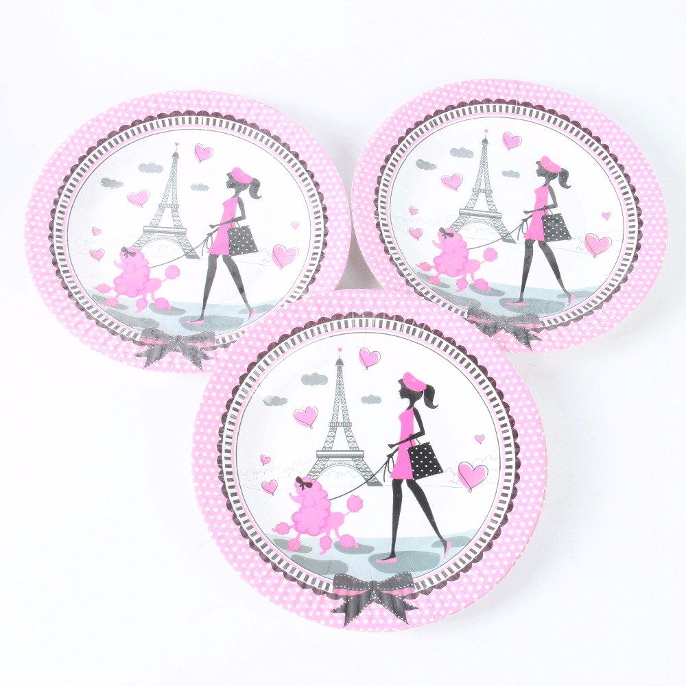 10 pcs/lot Wedding Birthday Party Supplies Eiffel Tower Paper Plate Baby shower Unicorn Kids Birthday Dec 7inch-in Disposable Party Tableware from Home ...  sc 1 st  AliExpress.com & 10 pcs/lot Wedding Birthday Party Supplies Eiffel Tower Paper Plate ...