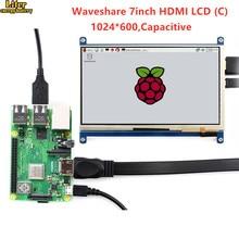 7 ''дисплей, 7-дюймовый HDMI lcd(C), емкостный сенсорный экран, HDMI монитор, поддерживает Raspberry Pi Модель 2B/3B/3B+ BB Черный