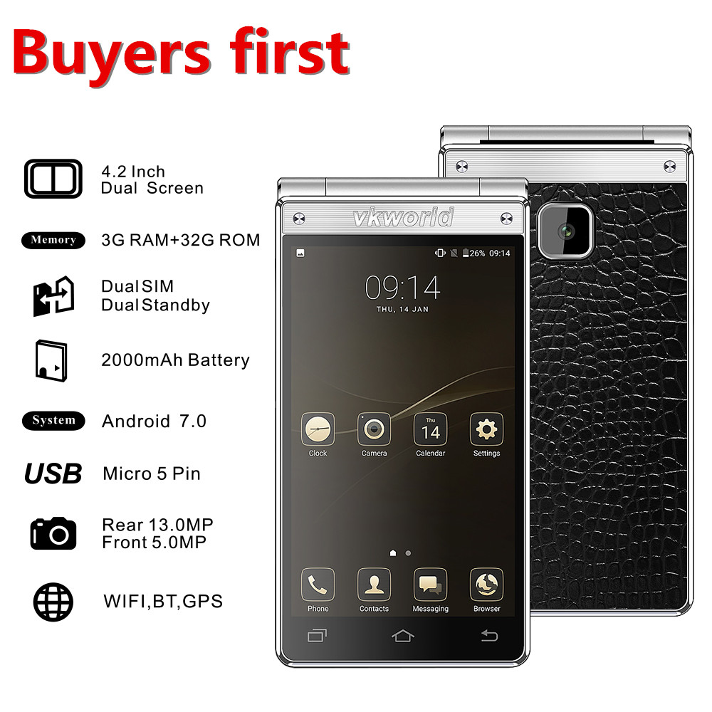 Vkworld T2 Plus 4.2 HD 1280*768 IPS Smartphone Android 7.0 MTK6737 Quad Core RAM 3 GB ROM 32 GB 13MP 2000 mAh OTA Telefone Móvel