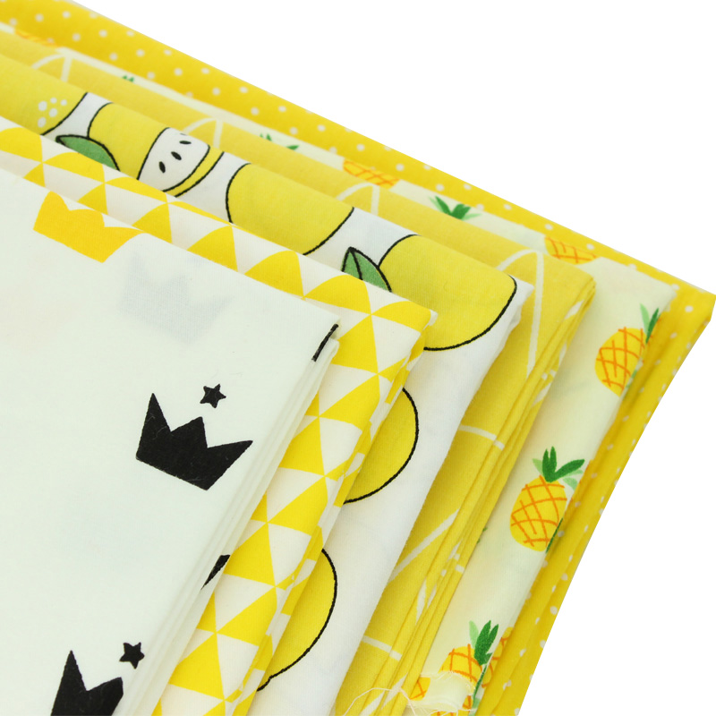 Yellow flower meter fabric 100% Cotton Fabric quilting Baby Cloth Kids bedding patchwork tissue home Textile Sewing fabric