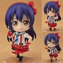 10cm Love Live! Sonoda Umi Figma Anime Cartoon Lovely Model Puppets Cute Toys can change the face Action & Toy Figures GH394