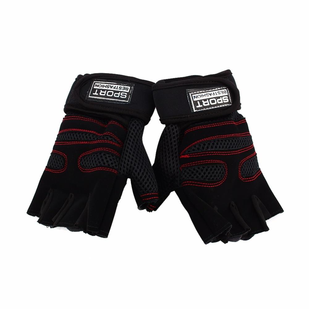 Fitness Sports Gloves Super Fiber Anti Slip Weight Lifting Half Finger Glove Women Men Bodybuilding Gym Training Hands Protector