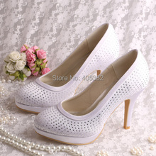 Wedopus Custom Handmade Dropshipping Women Wedding Shoes Crystal High Heeled Size 4-10