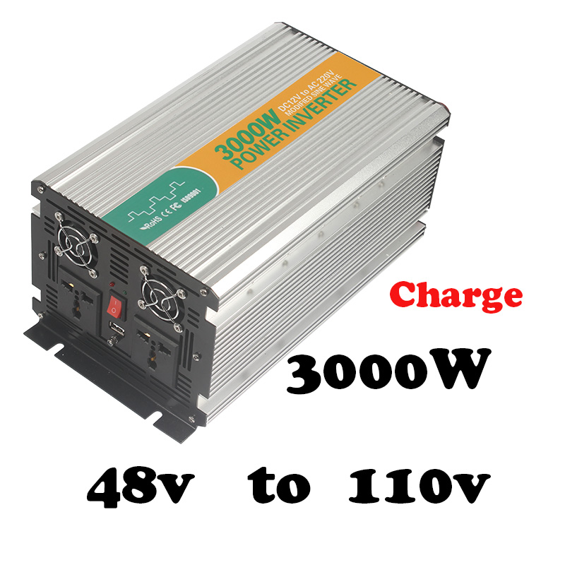 цена на 3000W  modified sine wave inverter 48vdc to 120vac power inverter 3000w with charger grid tie solar inverter 3000w