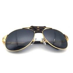 Ретро очки пилота, мужские очки Carter Santos Shades, женские модные очки, роскошные солнцезащитные очки, ретро очки, рождественские 554