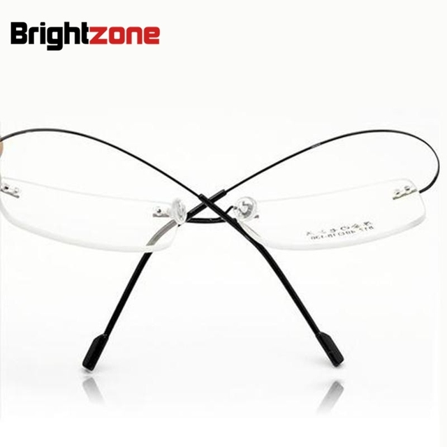 Retail 9 colors fashion rimless glasses frames/fashion memory titanium eyeglasses frames/prescription optical frames