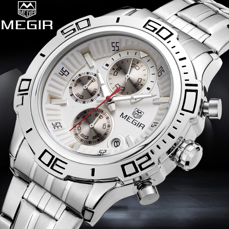 2018 MEGIR Top Brand Men Watch Man Fashion Business Watches Mens Quartz Sport Wristwatch Male Analog Clock Relogio Masculino