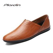Plardin/2017 Four Seasons Мода Плюс Размеры человек Разделение кожа Вышивание удобные дышащие платье в сдержанном стиле кожаные туфли для мужчин