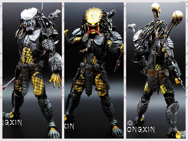 NECA AVP Aliens vs. Predator Series Young Blood / Elder Predator Serpent Hunter Action Figure Toy 18cm free shipping neca p1 7 soldier set classic predator 21cm alien hunter primevil avp