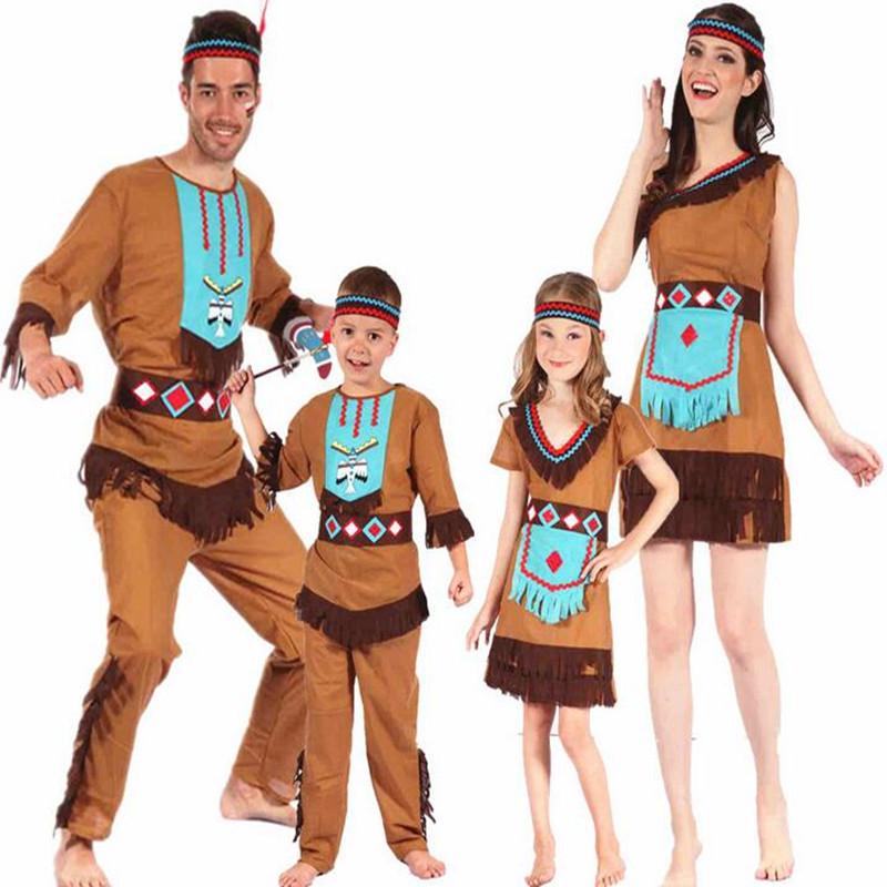 moda adultos nios original indio salvaje traje familia salvaje hombre cosplay disfraces de carnaval de disfraces