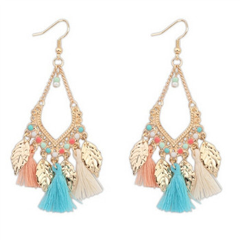 Beautiful Fashion Tassel Earrings Charm Wild Beads Gold Earrings For Women Teen Sweet Pendant Long Earrings Personality Earrings золотые серьги по уху