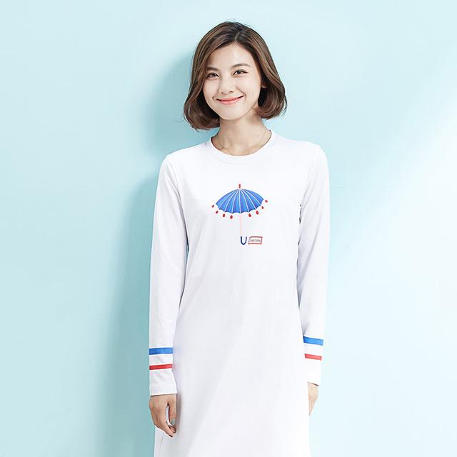 Nova maternidade casual dress manga comprida breve branco impressão dress para a gravidez roupas de enfermagem inverno amamentação dress