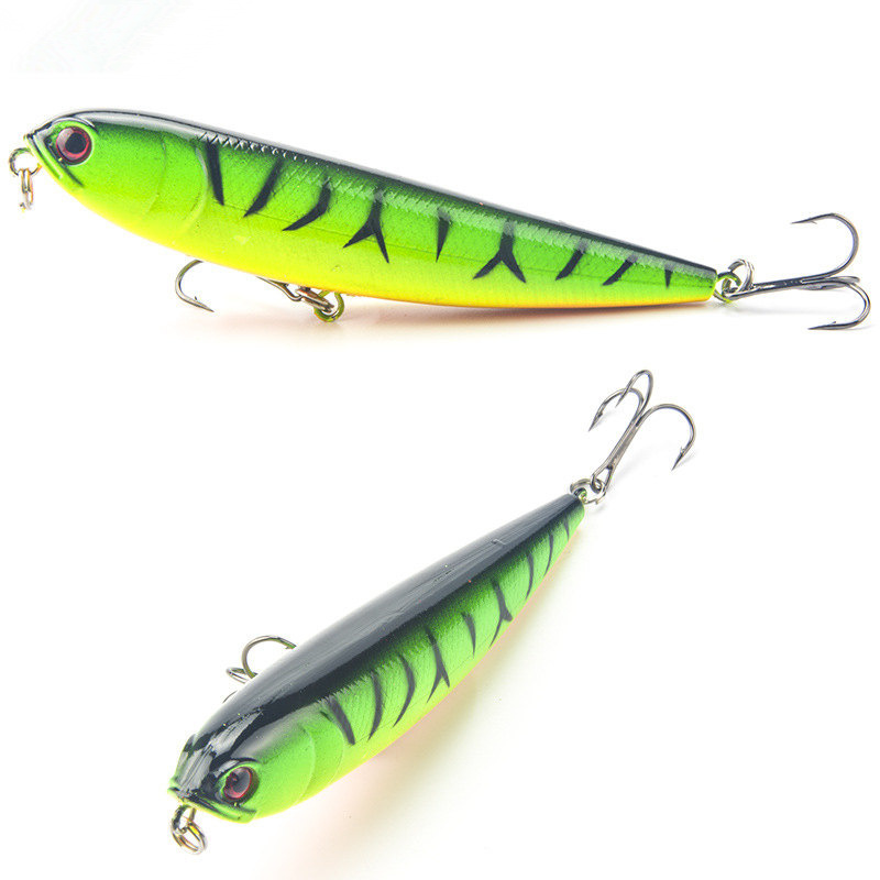 115mm 20g Topwater Pencil Lure Fishing Bait Artificial Minnow Hard Lures Baits Popper Sub Surface Dying 1pcs FA-216 1 pcs fish lure topwater popper minnow freshwater fishing lures bass bait tackle 4 treble hook fishing lure bait color random
