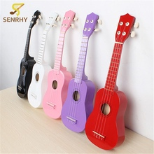 Colorful 21 Inch Acoustic 4 String Mini Linden Plywood Ukulele Musical Instrument Toy Learning Educational Music Toys For Kids