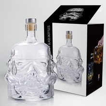 1 Pcs Storm Trooper Decanter Star Wars White Soldier Glass Jug Liquor Bottle High Boron Glass Bottle Wine B 650ml шорты классические детские dc frayser boy b otlr lily white storm pri