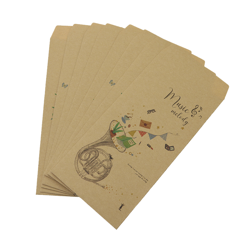 8 Pieces/Batch Of Paper Retro Style Envelope Crafts Concert Shape Print Set Leave A Gift Every Day To Invite To The Wedding