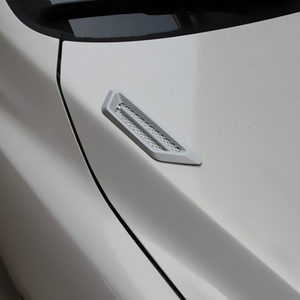 Image 5 - LEEPEE  1 Pair Side Mesh Cover Universal Shark Gills Auto Sticker Hood Bonnet Car False Air Outlet Decoration Stickers