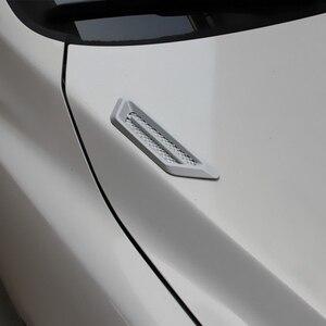 Image 5 - LEEPEE 1 paire côté maille couverture universelle requin branchies Auto autocollant capot voiture faux Air sortie décoration autocollants